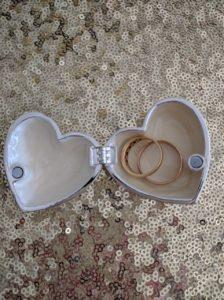 Rings in Heart Dish